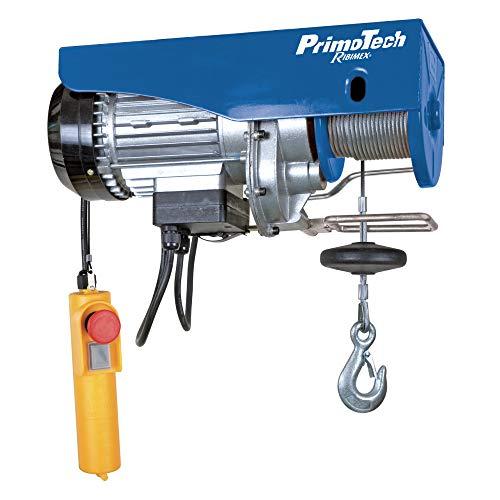 Ribimex PE100/200PT Paranco Elettrico 100/200 kg, 480 W, Fune 12 m, 230 V, Blu e Nero