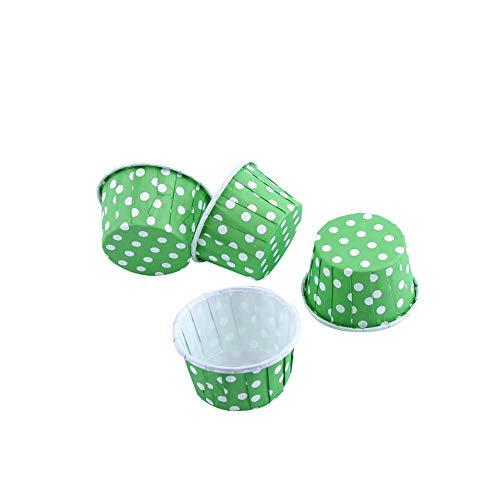 Cupcake Fälle, 100st Mini Backen Tassen Muffin Fälle Papier Kuchen Tasse für Party Hochzeit, Grün, 1.97 x 1.18 Zoll