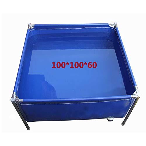 Dekzeil regendicht waterdicht water opslag zwembad aanpasbare wateruitlaat, roestvrij staal beugel PVC multi-Purpose outdoor zon bescherming zonnekap dekzeil vel 200x300x42cm Blauw