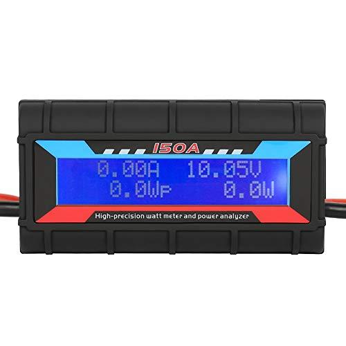 KKmoon 150A High Precision Power Analyzer Wattmeter Batterieverbrauch Leistungsüberwachung mit LCD-Hintergrundbeleuchtung für RC, Batterie, Solar, Windenergie