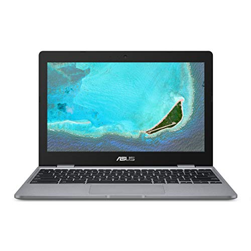"ASUS Chromebook C223 Laptop- 11.6"" HD 1366x768 Anti-Glare Display, Intel Dual-Core Celeron N3350 Processor (Up to 2.4GHz) 4GB RAM, 32GB eMMC Storage, Chrome OS, C223NA-DH02 Grey"