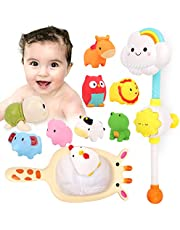 Kitoid Baby Bath Toys, Bathtub Toy 12Pcs, Floating Squirting Toys With Storage Bag for Toddles and Babies, Baby Swimming Pool Bathroom Toy ,Water Toys,12 PCs Fun Baby Bath Toys for Toddlers