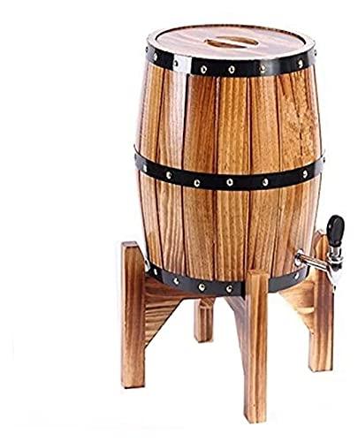 Decantador de whisky Decantador de whisky Decantador de vino Barriles de vino vertical, roble barriles de envejecimiento Whisky Barrel Dispensador Cubo de vino Sin fugas para almacenamiento Vino y lic
