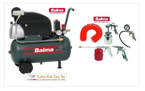 Balma Kompressor mit Tank lt.24+ Kit Zubehör