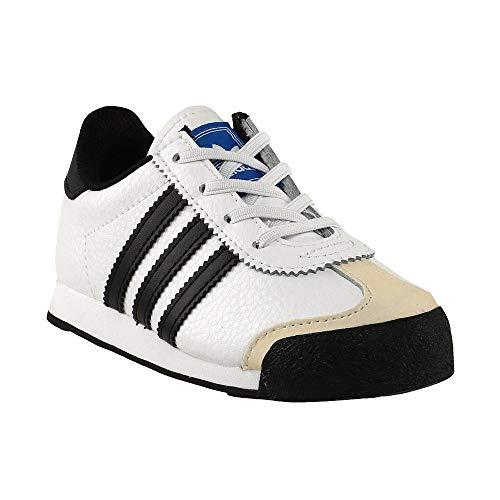 adidas Originals unisex child Samoa Sneaker, White/Black/Blue, 6 Toddler US