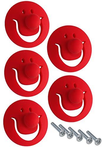 Aerzetix C41781 handvat voor lade, kast, deur, kast, clown, rood, 5 stuks