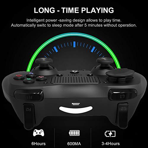 MOKY Wireless Gamepad Wiederaufladbare Spiel Telefon-Controller, kompatibel mit Android Phone, Tablet, TV, TV-Box, PC-Bluetooth-Empfänger enthalten,B