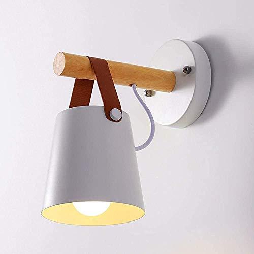 Lámparas de pared interiores de dormitorio moderno en madera y lámpara de pared de hierro para...