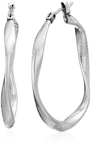 Lucky Brand Twist Hoop Earrings, Silver, One Size