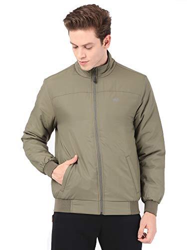 Wildcraft Men's Light Quilted Solid Jacket (OLIVE, Large)