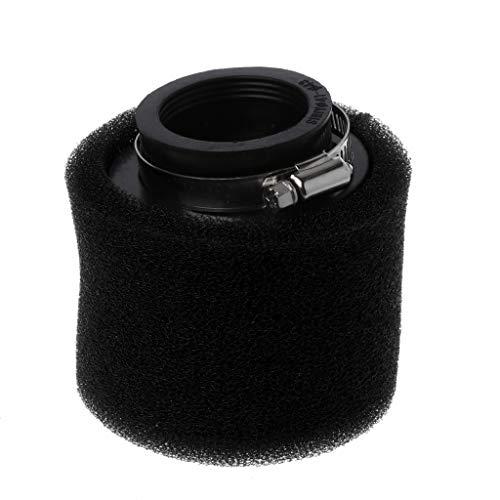 Qiman Motorrad Doppelschwamm Luftfilter Reiniger gerader Hals 35/38/40/42/45 / 48mm (schwarz, 35mm)