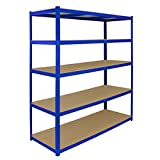 Garage Racking Shelving <span class='highlight'>Storage</span> Unit <span class='highlight'>Organisation</span> Steel MDF <span class='highlight'>Home</span> Warehouse Shelves Racks Shed | 1600mm x 600mm