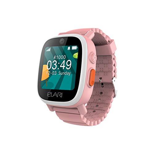2G Reloj Inteligente Niño y Niña GPS Localizador y Llamadas Bidireccionales Audio, Chat de Voz, Botón SOS, Impermeable, Cámara, Juegos - ELARI FixiTime 3 (Rosa)