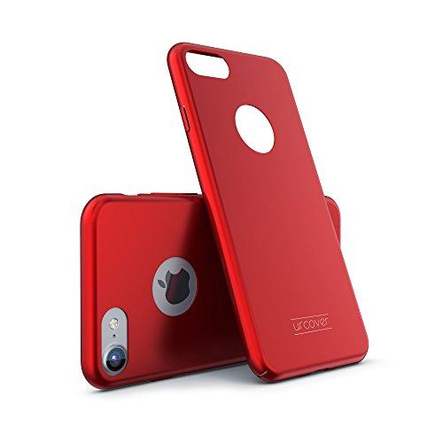 Urcover Apple iPhone 7 Plus | Funda Protectora Ultra Slim Hard Case | Plastico Rígido en Rojo | Carcasa Proteccíon Fina y Ligera Cover Móvil Smartphone Accesorio