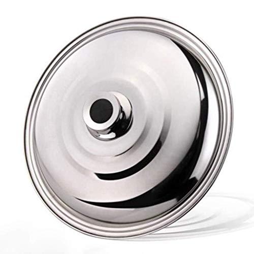 Round Basting Cover, Staal Flat Stainless Bottom Pot Wok Pan Pot van de Soep General Purpose Household Cover gemakkelijk schoon te maken (Size : 36cm)
