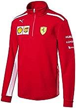 Ferrari Scuderia Formula 1 Men's Red 2018 1/2 Zip Team Fleece w/Sponsors (Medium)