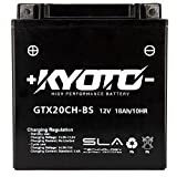 Batteria moto Kyoto SLA GTX20CH-BS (YTX20CH-BS) AGM - Senza manutenzione - 12 V 18 Ah - Dimensioni: 150 x 87 x 161 mm compatibile con KAWASAKI VN1500 G, J, H 1500 1999-2005