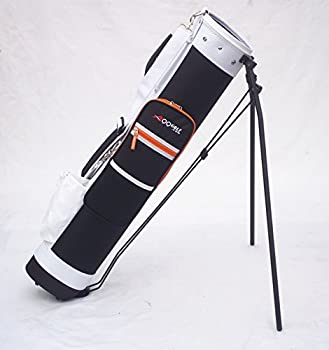 C13 Adult Golf Range Sunday Pencil Carry Bag Removable Top Cover w Stand  Blk/Wht