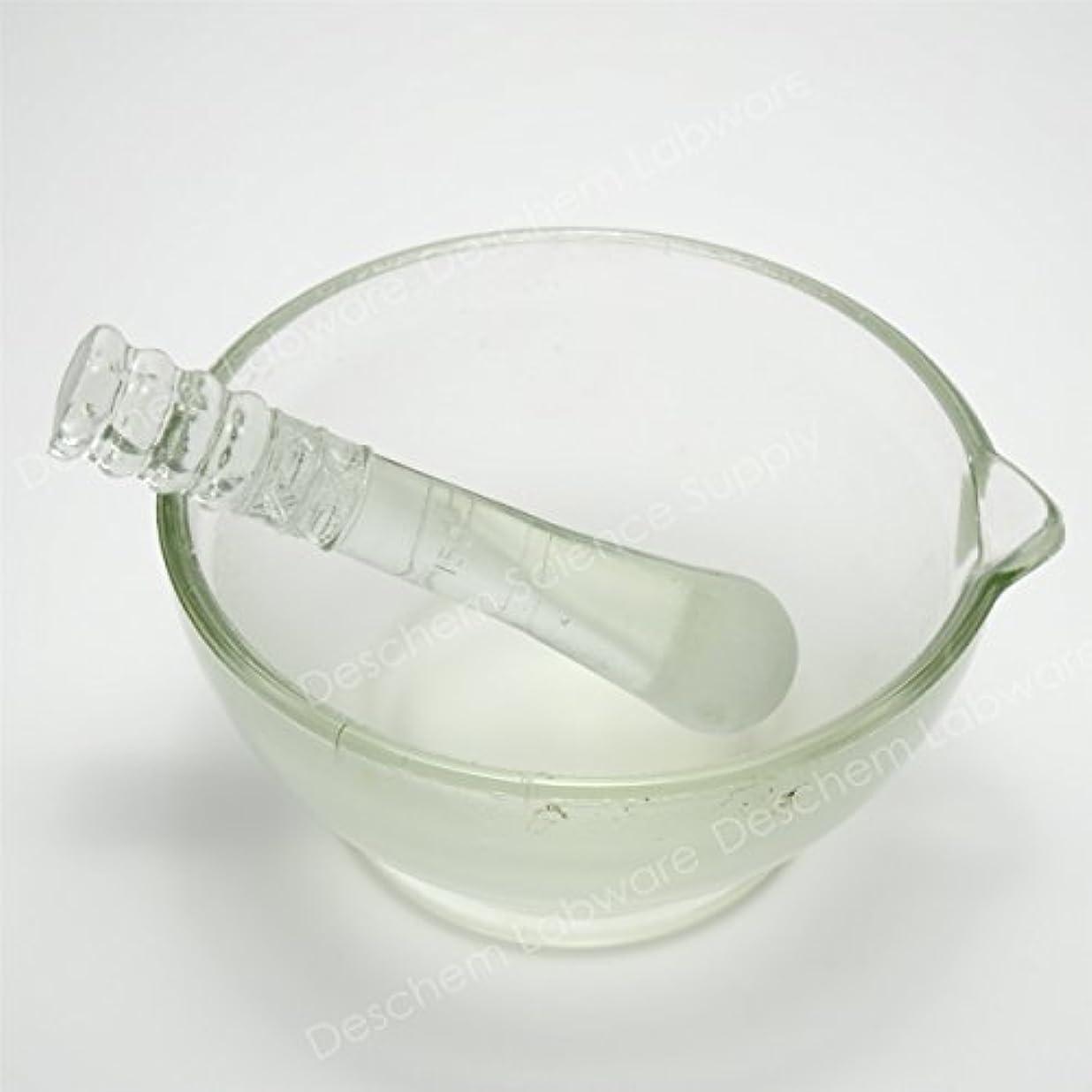 読みやすさ着陸天気Deschem 180mm 硼珪酸ガラス 乳鉢 棒付 YB-180