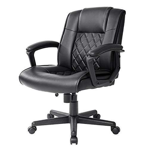 Qulomvs Ergonomic Office Desk Chair with Wheels Back Support...