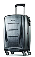 Samsonite Winfield 2 Hardside Luggage with Spinner Wheels, Charcoal, Carry-On 20-Inch