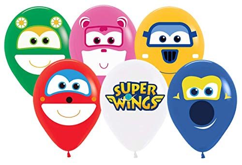 24PC SUPERWING SUPERWINGS Super Wing Jet Airplanes Video Game Balloons Party Supplies Decoration Theme Birthday A2