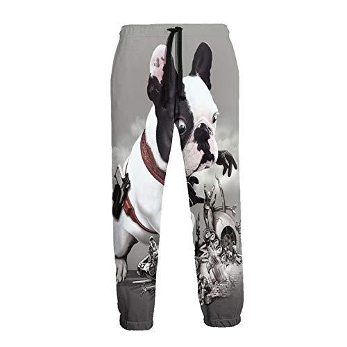 Inaayayi French Bulldog Mission Went Wrong Funny - Pantalones deportivos con cordón