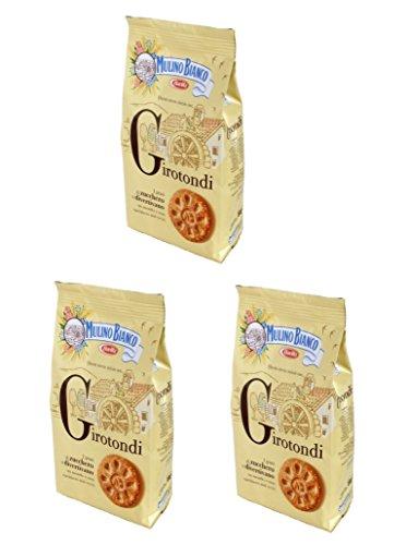 Mulino Bianco: frollini 'Girotondi' con grani di canna da zucchero - 350 g Confezione da 3