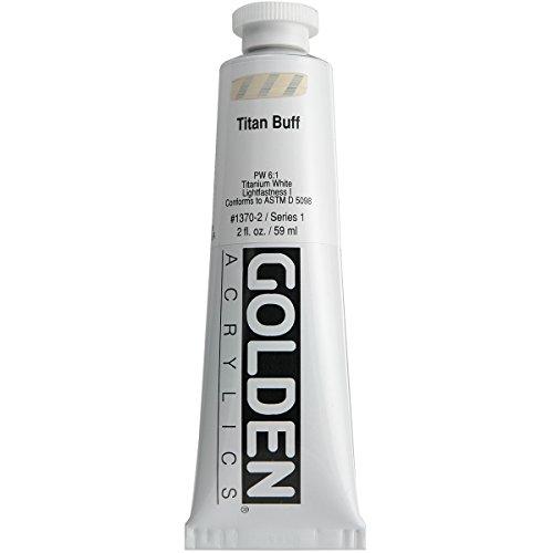 Golden GLDNHB-13702 Heavy Body Acrylic Paint, 2-Ounce, Titan Buff