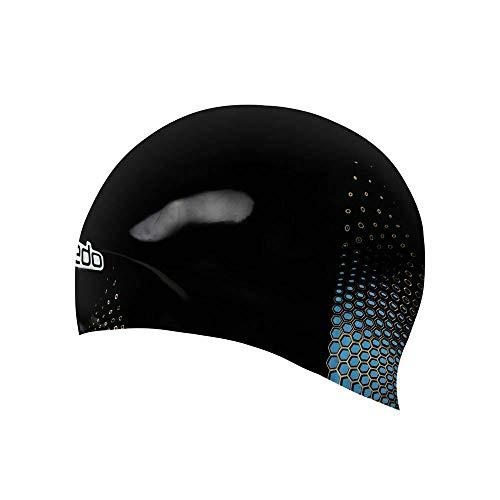 Speedo Fastskin cap, Cuffia da Nuoto Unisex-Adulto, Nero/Oro/Blu, S
