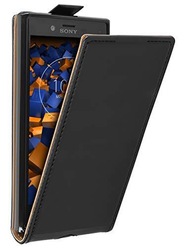 mumbi Tasche Flip Hülle kompatibel mit Sony Xperia X Compact Hülle Handytasche Hülle Wallet, schwarz