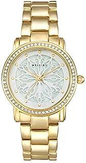 MESTIGE Womens Quartz Watch, Analog Display and Brass Strap MSWA3167