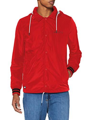 Superdry Baseball Hooded Coach Chaqueta, Rojo (Varsity Red Rxg), S para Hombre