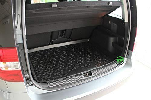 J&J AUTOMOTIVE Premium Antirutsch Gummi-Kofferraumwanne für alle Skoda YETI AB 2009