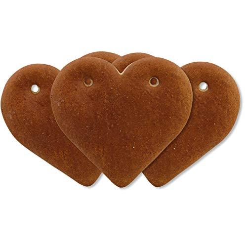 Lebkuchenherz Rohlinge 10cm | 25 Stück Lebkuchenherzen zum selbst Gestalten | Lebkuchen Herzen selber beschriften | Lebkuchenherz Blanko| Lebkuchen Herz ohne Deko von LEBKUCHEN WELT