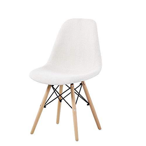 Probasto イームズチェア 椅子 ダイニングチェア クッション付き 木脚 布地ファブリックタイプ 組立簡単 おしゃれ 北欧 イス ホワイト【1脚セット】