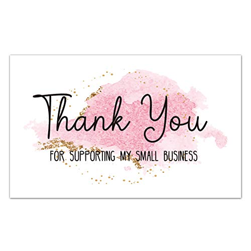 50 Thank You Cards for Small Business, We Appreciate You Supporting My Business Customer Appreciation Note Cards, Package Insert for Purchase Order, 3.5 x 2 inches.