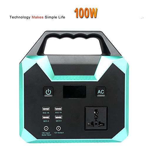 Sthfficial Outdoor 100 W huishoudelijke apparaten, stroomvoorziening voor opslag van energie, noodstroomgenerator, starthulp, 12 V, 2000 A