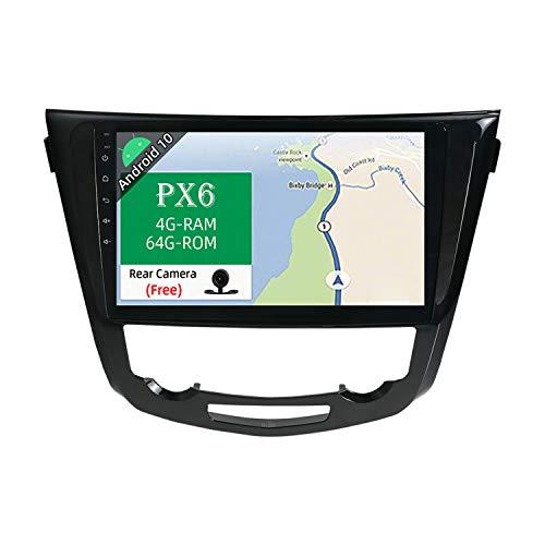 JOYX PX6 Android 10 Autoradio para Nissan X-Trial (2014-2018) - [4G+64G] - Gratis Cámara Canbus - 10.1 Pulgada IPS Screen - GPS 2 DIN - Apoyo Dab 4G WLAN Bluetooth4.0 Carplay Mandos de Volante Google