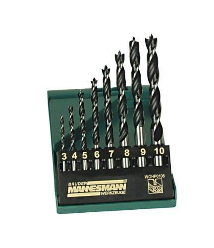 Mannesmann - M54308 - Coffret de mèches à bois pro - 8 pièces