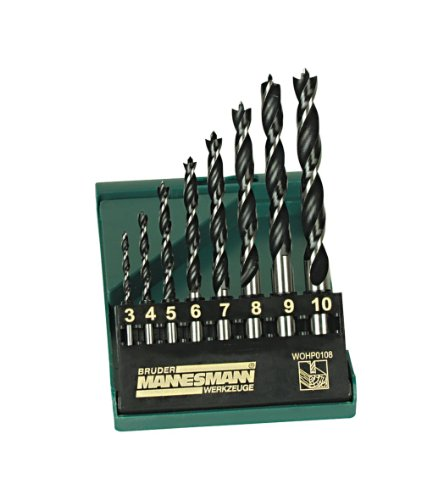 Mannesmann Professional Wood Drill Set in Plastic Box (8 Pieces)