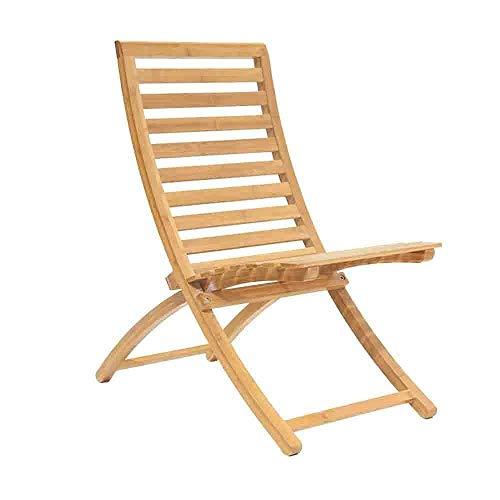 BaiJaC Silla de Camping, Silla de salón de Patio Silla de salón de bambú, Silla de Playa Silla Plegable Sillón Sillón de bambú al Aire Libre Sillón de Patio reclinado