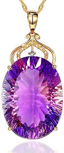 OlovdHit Collana Pendente Collana Pendente in Oro 18 Carati con Micropiastra con Diamante in Cristallo di Diamante Coppia Femminile Regalo Gioielli Perfetti