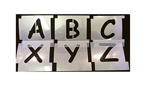 Tamaño de la letra: 50mm plantilla de letras Tipo de fuente: Comic Sans Funda: Funda Superior Espesor: 125micras Material: Tereftalato de polietileno resistente poliéster–fácil lavado y reutilización