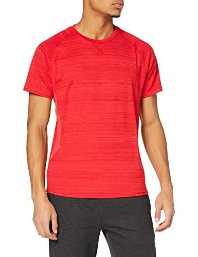 Marca Amazon - find. Camiseta Deporte Básica Hombre, Rojo (Red), L, Label: L