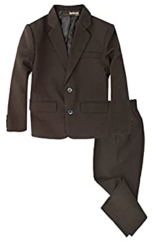 G218 Boys 2 Piece Suit Set Toddler to Teen  12 Brown