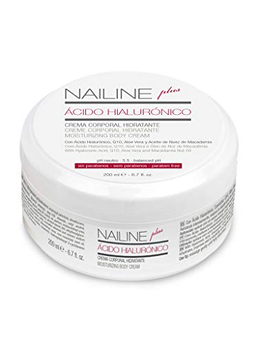 Nailine Plus Crema Corporal con Ácido Hialurónico, Coenzima Q10 y Aloe Vera, 200ml