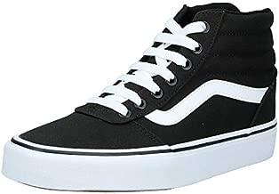 Vans Women's Ward Hi-Top Trainers (Canvas) Black/White 187, 6 (39 EU)