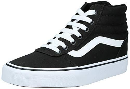 Vans Ward Hi, Zapatillas Altas para Mujer, Negro ((Canvas) Black/White 187), 40 EU
