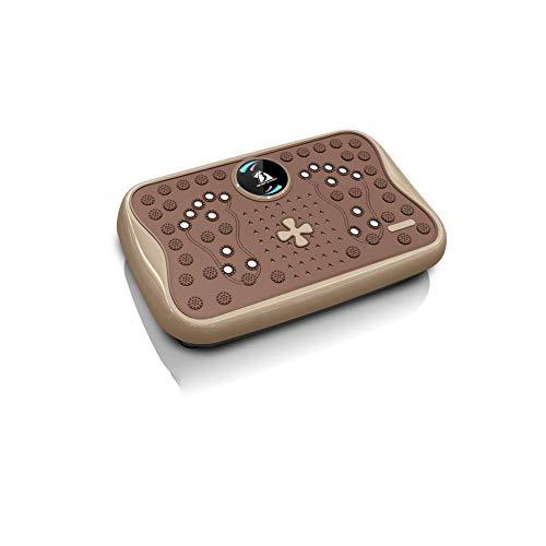 QAQA - Placa de vibración para máquina de fitness, entrenamiento delgado, entrenamiento en casa, gimnasio, música, placa de vibración 3D, gris, B, A